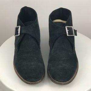 Johnston & Murphy Women's Suede Monk Strap Boots